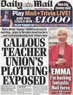 Teachers' union leaders facing trial by tabloids