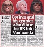 Anti-Corbyn attack agenda of tabloid press
