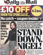From hero to zero: Nigel Farage trashed by Tory tabloids